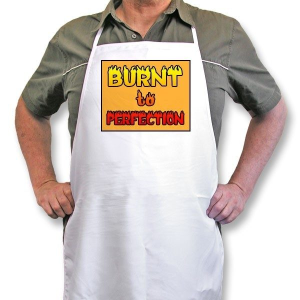 "Personalised Apron ""Burnt to Perfection"""