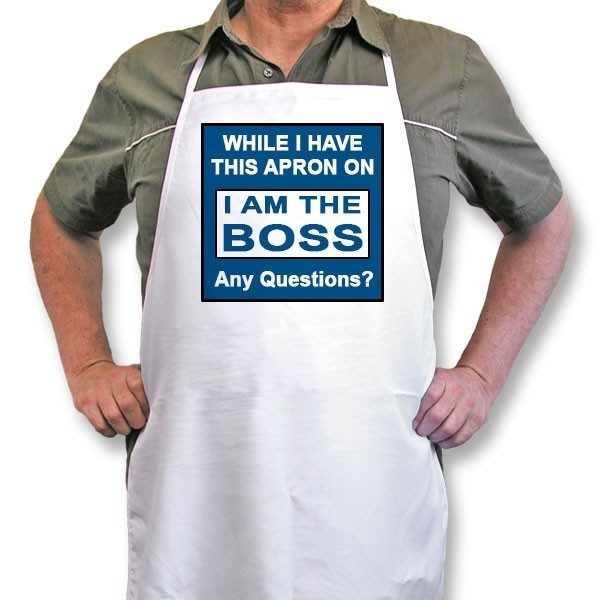 "Personalised Apron ""While I have this Apron on"""