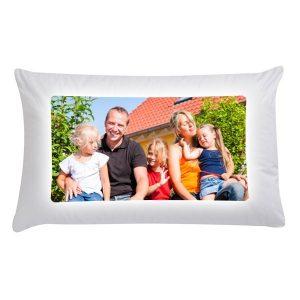 Printed photo pillow case