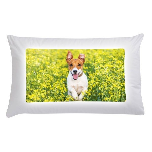 Printed photo pillow case