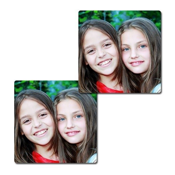 Pair of personalised photo coasters