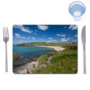 2 matching large photo placemats