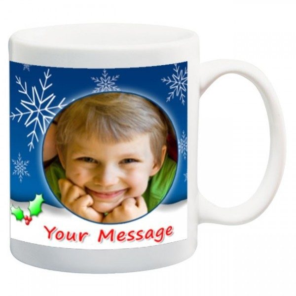 Snow Man Christmas Mug