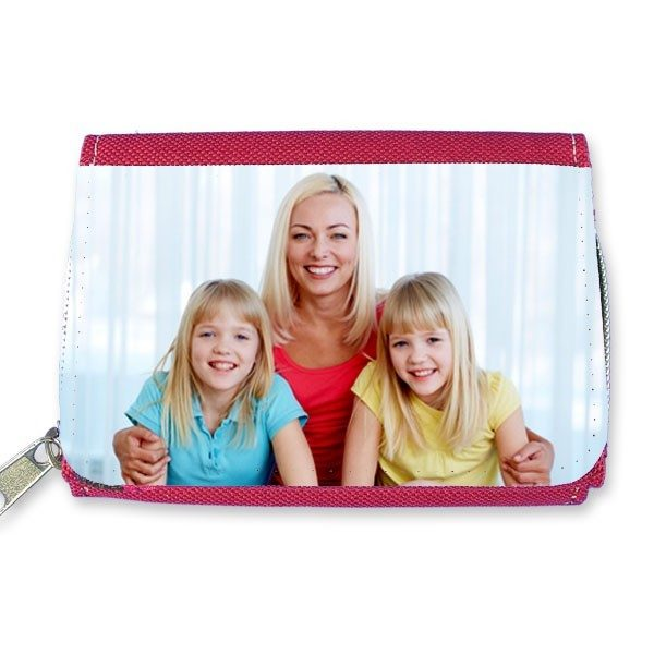 Personalised Red Canvas Purse and Wallet