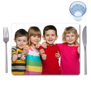 2 matching extra large photo placemats