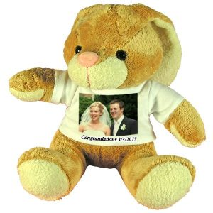 Personalised wedding gift soft toy rabbit with floppy ears