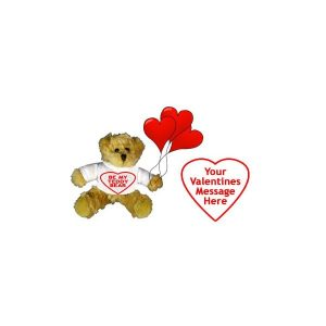 Personalised Valentine's Teddy Bear