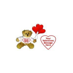 Personalised Valentine's Teddy Bear