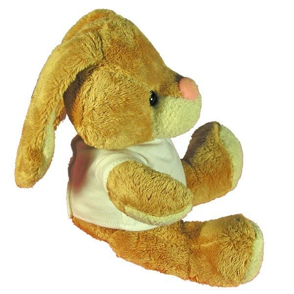 Personalised soft toy rabbit with floppy ears