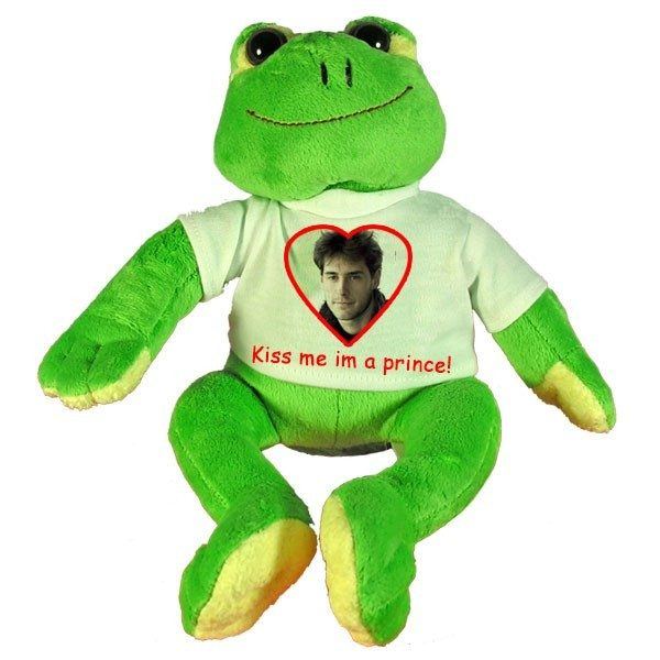 Personalised Valentines Gift soft toy Frog