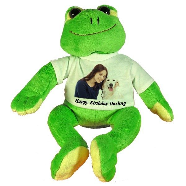 Personalised Birthday Gift soft toy Frog
