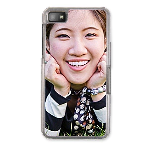 Personalised Blackberry Z10 Protective Case in clear plastic