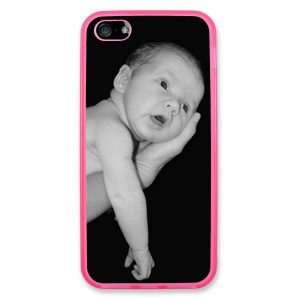 Personalised iPhone 5 Pink TPU Soft Silicone rubber case
