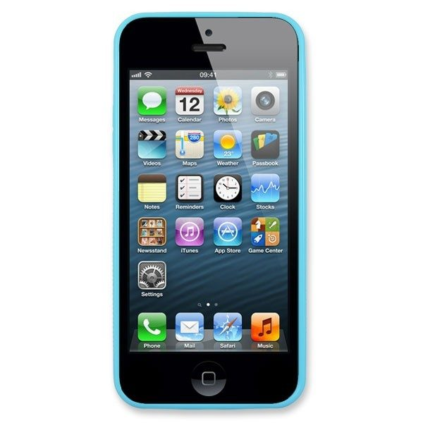 Personalised iPhone 5 Light Blue TPU Soft Silicone rubber case