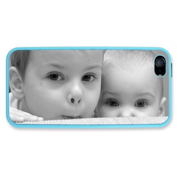 iPhone 5 Light Blue Silicone Rubber Case