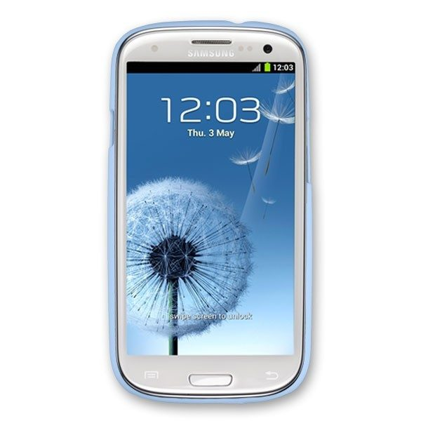 Samsung S3 i9300 case in Light Blue rubber