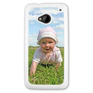 HTC one M7 hard plastic white Phone Case