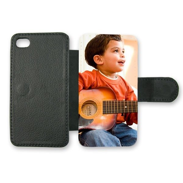 iPhone 4/s Protective Leather Case in Black