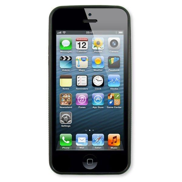 iPhone 4/s Black Silicone Rubber Case