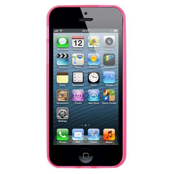 iPhone 5 Pink Hard Moulded Plastic Case