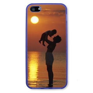 Personalised iPhone 5 Purple Silicone Rubber Case