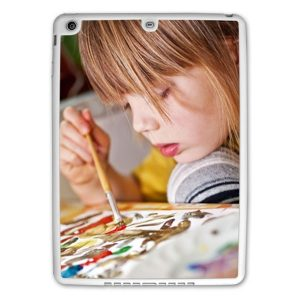 Personalised iPad Air White protective silicone rubber case