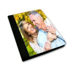 Personalised iPad Air Black Leather Case