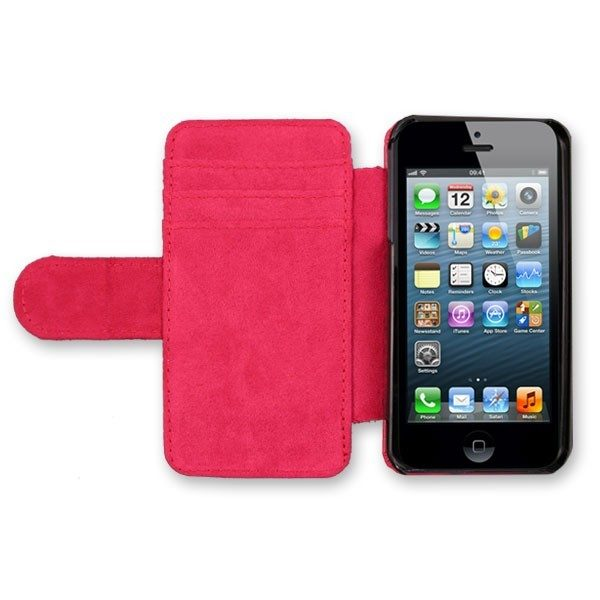 iPhone 5 Red Leather Case