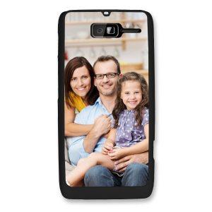 Motorola RAZR D1 D3 Black Hard Plastic Case