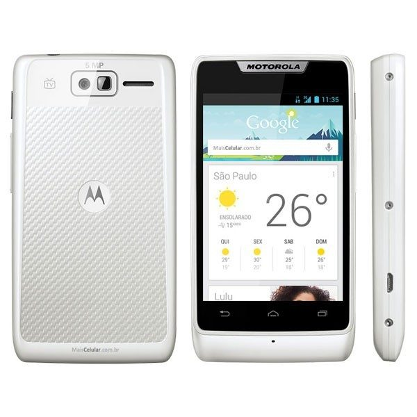 Motorola RAZR D1 D3 White Hard Plastic Case