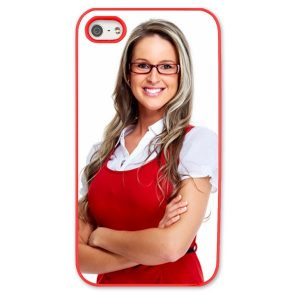 iPhone 5s Red Moulded Plastic Case