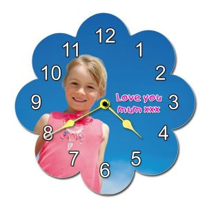 Personalised Flower Shape Wall Clock