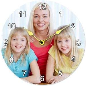 Personalised Large Round Wall Clock