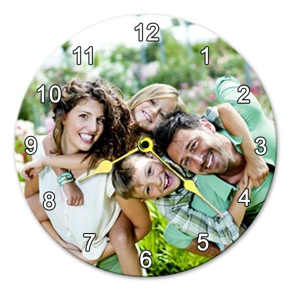 Glass Round Photo Clock