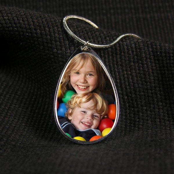 Peardrop Photo Necklace