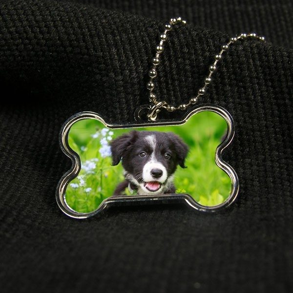 Dog Bone Printed Photo Necklace