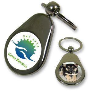 Pear Drop Photo Keyring