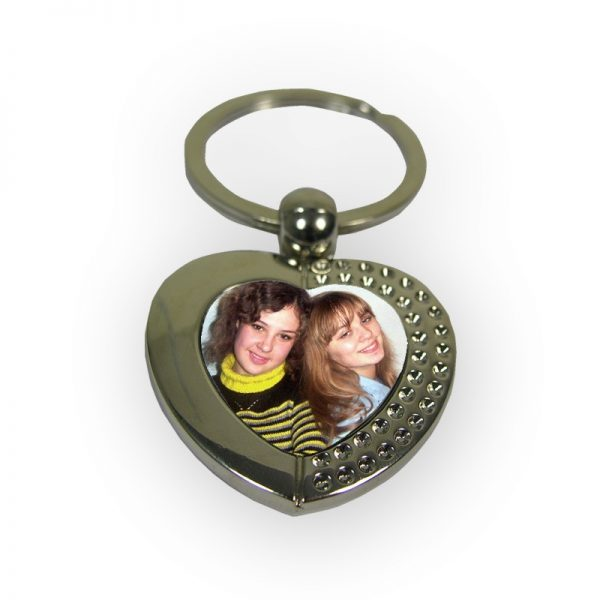 Heart Diamante Keyring
