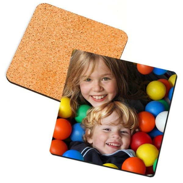 Square Photo Coaster with cork backing
